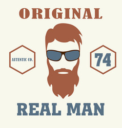 real man t-shirt design icon barber vector image