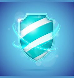 realistic shield a symbol protection and vector image