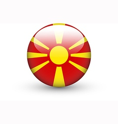 Round icon with national flag of Macedonia vector image