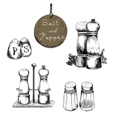 Salt and pepper vector