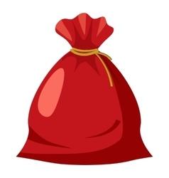 Santa sack icon cartoon style vector