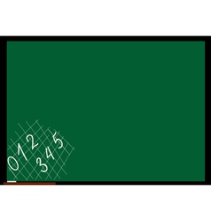 School board with numbers vector image
