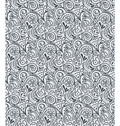 Seamless floral tile background pattern in vector image