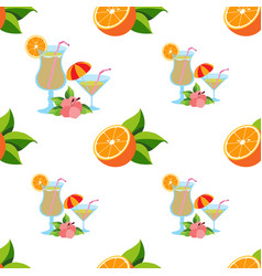 seamless pattern with the image of oranges and vector image