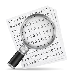 Search file icon vector image