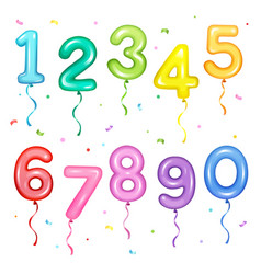 set colorful number shaped vector image