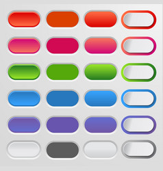 Set of colored web buttons colorful collection vector