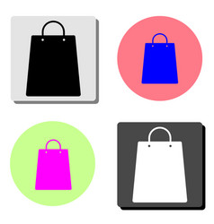 shopping bag flat icon vector image