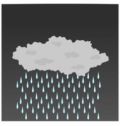 Single rain cloud is rainfall vector