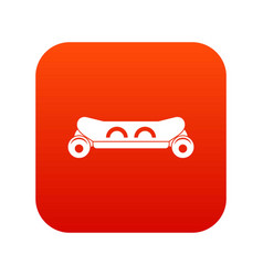 skateboard deck icon digital red vector image