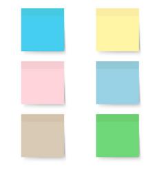 sticky notes pastel 6 pcs vector image
