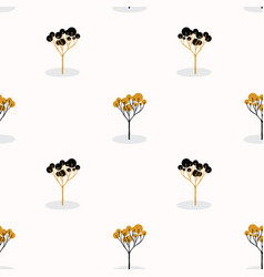 Stylized single tree wood repeating seamless vector