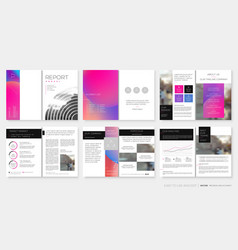 template for annual report design with vector image
