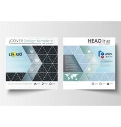 Templates for square design brochure magazine vector