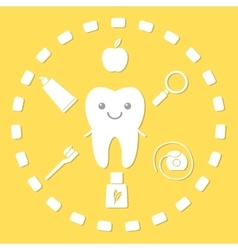 Tooth and hygiene things vector image