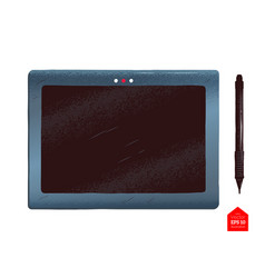 Top view of tablet vector