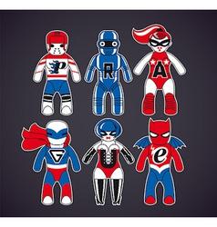 Toy superheroes vector