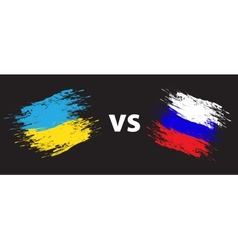 Ukraine and Russia vector image