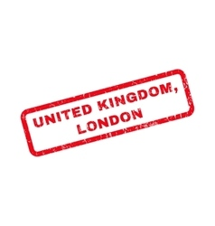 United Kingdom London Rubber Stamp vector image