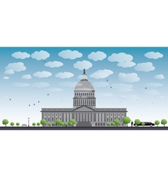 Washington DC Capitol landscape vector image
