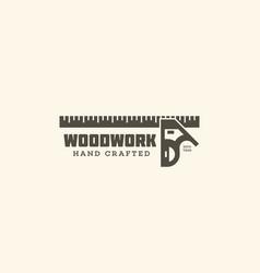 Woodwork service logo vector