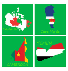 world map-countries in color on white background vector image