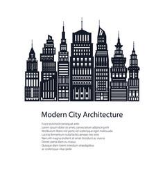 flyer architecture megapolis vector image