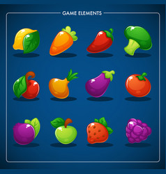 little farm match 3 mobile game games objects vector image