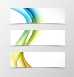 Set of header banner swirl design vector image
