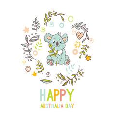 celebratory australia day background vector image vector image