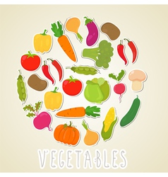 color vegetables Healthy lifestyle Circle design vector image