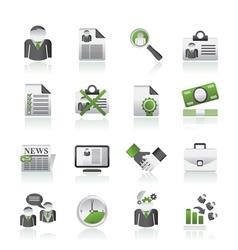 Employment and jobs icons vector image