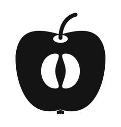 Half of fresh apple icon vector image