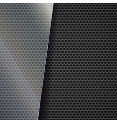 Metallic mesh background vector image