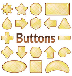 Pink and lilac buttons set vector