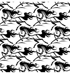 Seamless pattern of horse stallions vector image vector image