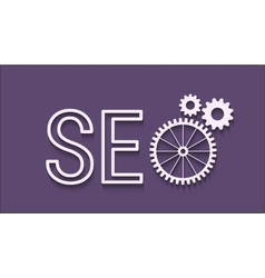 SEO abstract icon vector image