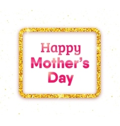 Happy Mothers Day typography greeting card vector image