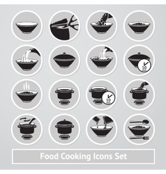 set of cooking icons for instructions vector image vector image