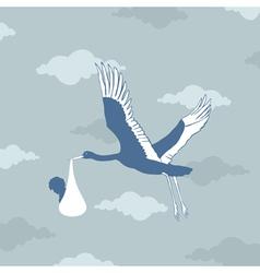 stork bears the kid vector image vector image