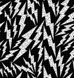 Bolt retro seamless pattern in black and white vector image