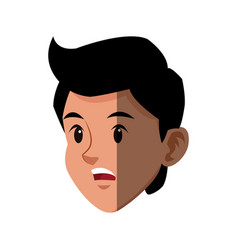 character head boy sport style image vector image