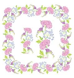flower frame 6 380 vector image vector image