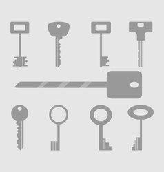 Keys icons set vector image