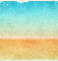 Vacation themed grungy background vector image
