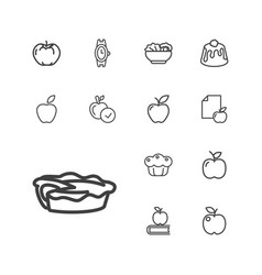 13 apple icons vector