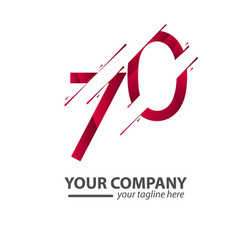 70 year anniversary your company template design vector