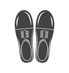 A pair of man classic shoes Black icon logo vector image