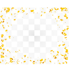 Abstract background with many falling golden tiny vector