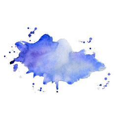 abstract blue watercolor splash texture vector image